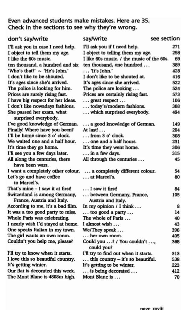 أخطاء شائعة بالاجابات في اللغه الانجليزيه لكل المراحل