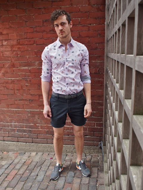 look masculino com tênis new balance esportivo
