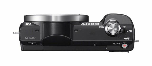 Fotografia dall'alto della Sony A5000