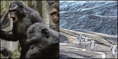 El amanecer del planeta de los simios, de Matt Reves, e Interstellar, de Christopher Nolan