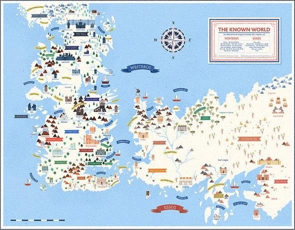"""Maria Suarez Inclan """"Westeros & Essos Map"""""""