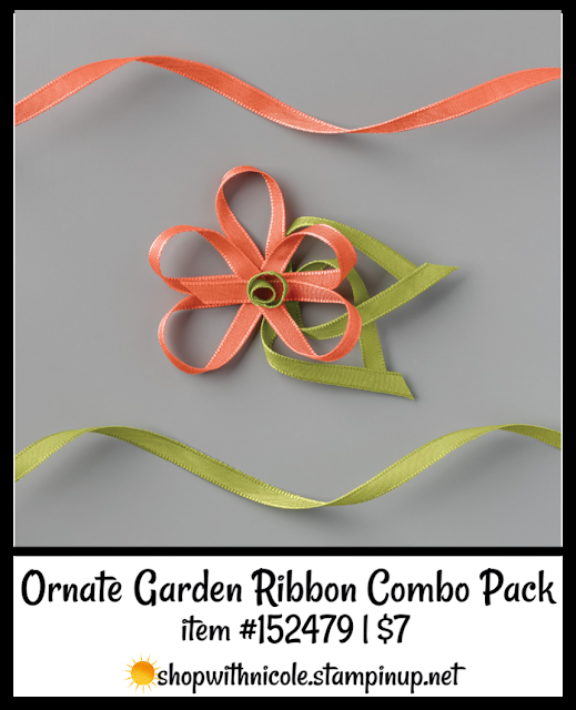 Ornate Garden Ribbon Combo Pack | item 152479 | $7 | Nicole Steele The Joyful Stamper