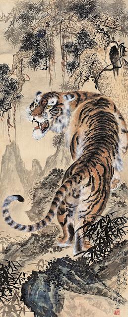 Κινέζικη τίγρης έργο του Cai Heting