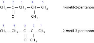 Contoh cara penamaan senyawa keton