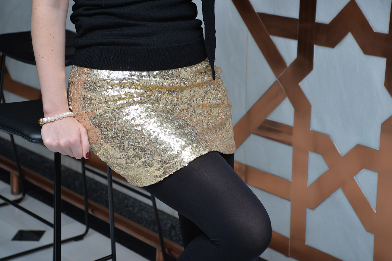 new years eve sequined skirt fashion outfit