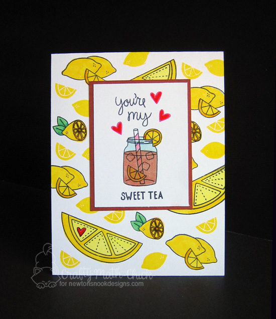 You're My Sweet Tea Card by Crafty Math Chick | Freshly Squeezed stamp set by Newton's Nook Designs #newtonsnook