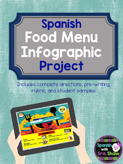 https://www.teacherspayteachers.com/Product/Spanish-Food-Project-La-Comida-Menu-Infographic-2471654