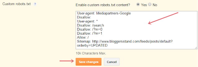 enable custom robots.txt settings to duplicate title tags
