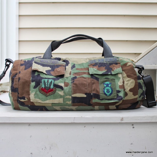 Duffel Bag Made From Air Force Jacket