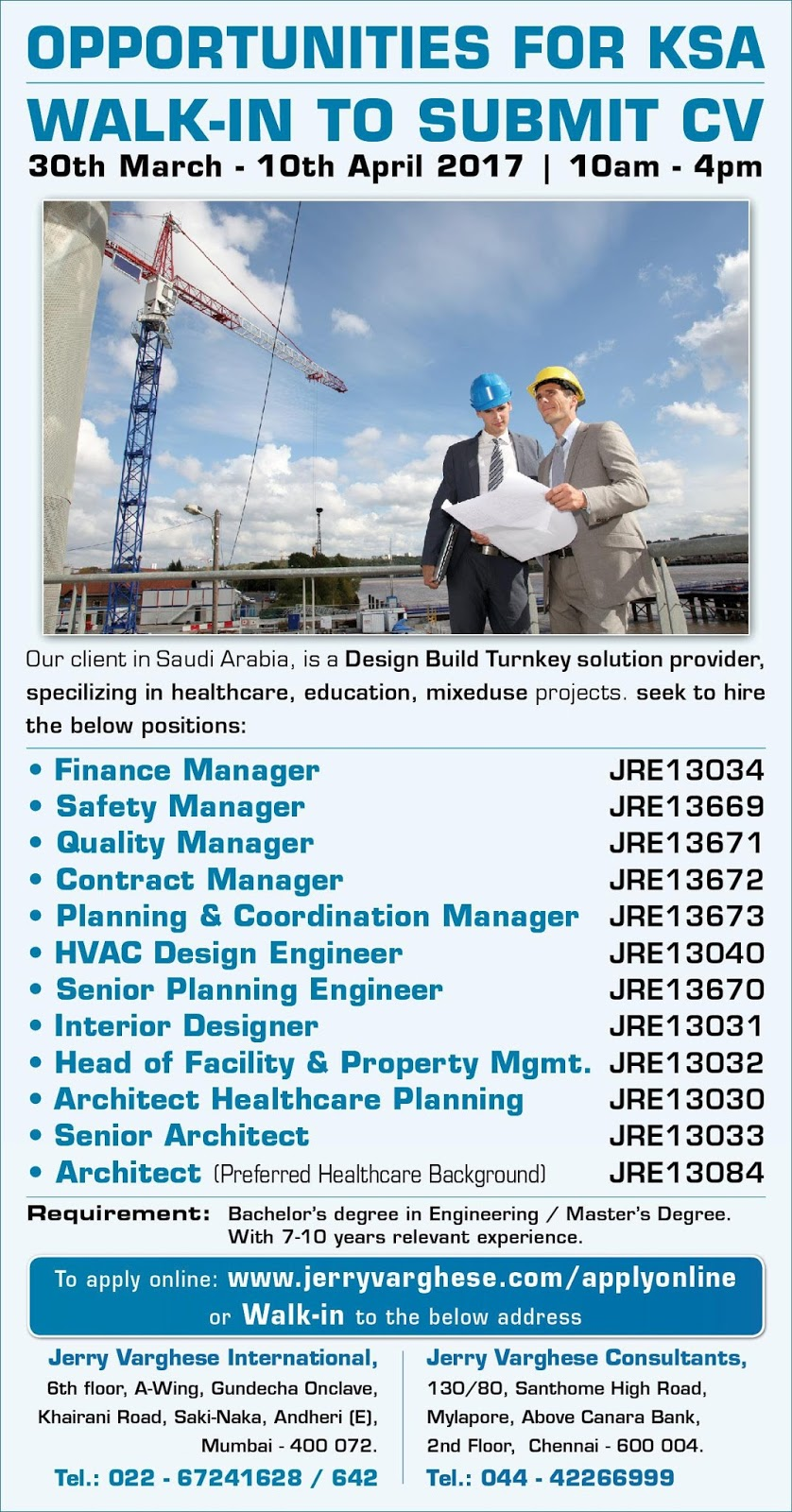 Walkin Drive For Engineer In Jerry Varghese One Of The Leading Players World Recruitment Solutions Is Poised As A Thought Leader Market