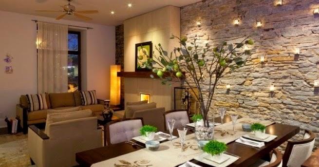 Ambientes con paredes de piedras decoraci n del hogar for Piedras para decorar paredes
