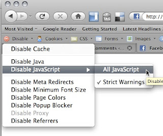 How to disable JavaScript