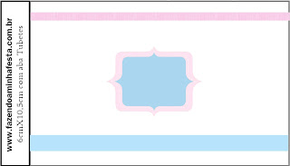 Pink and Light Blue: Free Printable Candy Bar Labels.