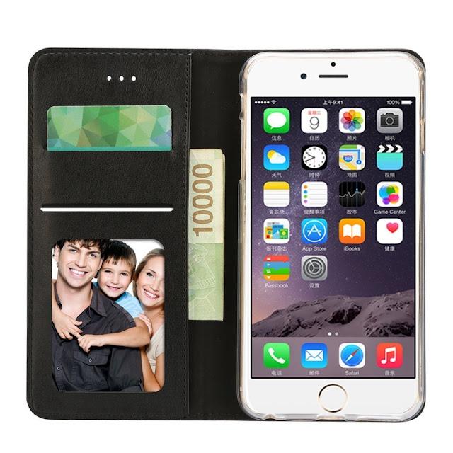 Coque iPhone 6, Coque iPhone 6S, Housse iPhone 6 / 6S, IPHOX  PU Etui en Cuir Portefeuille de Protection, Livre Horizontale, Emplacements Cartes avec Fonction Support et Languette Magnétique pour iPhone 6 / 6S , Noir / E