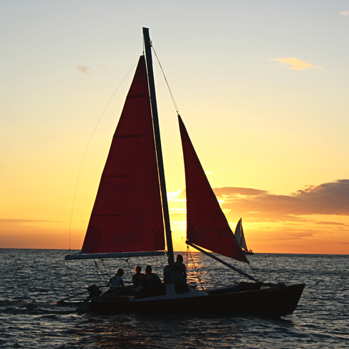 sunset sail waikiki hawaii
