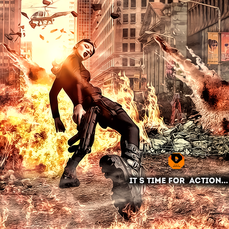 Action Movie Poster Design Boom