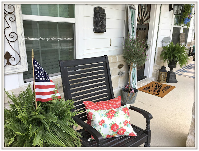 Pioneer Woman Placemats-Floral-Polka Dot-Porch Pillows-DIY-From My Front Porch To Yours
