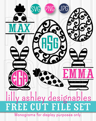 Free Easter SVG by Lilly Ashley Designables