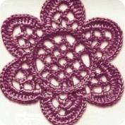 Flor tejida a Crochet
