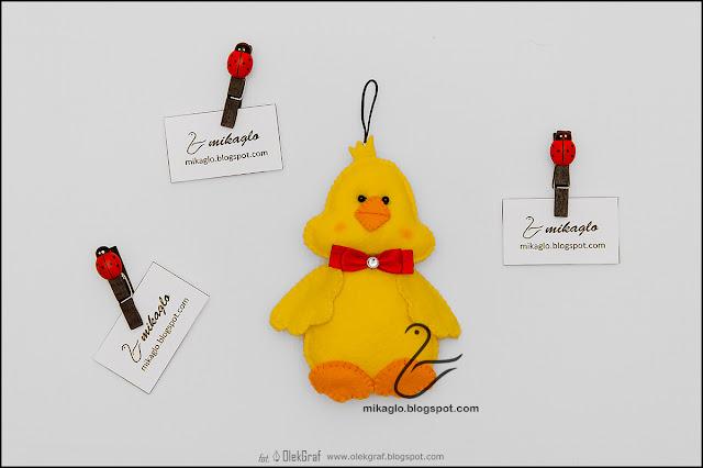 396. Kaczucha z filcu / Felt duck keychain