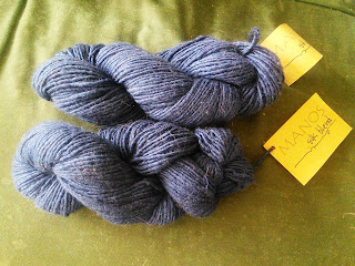 Two skeins of Navy Blue yarn