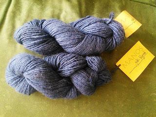 Two skeins of Navy Blue yarn