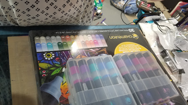 Chameleon markers, alcohol markers, marker unboxing, chameleon color tone markers, chameleon color tops