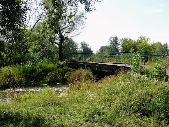 Лужани. Міст через річку Совицю