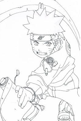 Komik Naruto bisa mewarnai