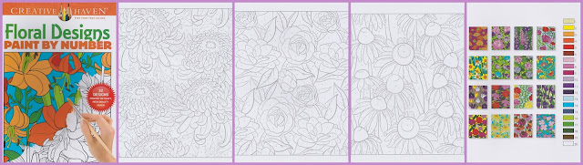 SN 01 floral desings. schilderen op nummer