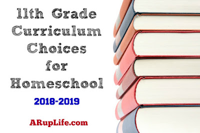 11th Grade Curriculum Choices for 2018-19