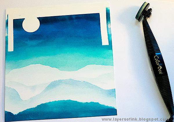 Layers of ink - Penguin Winter Scene by Anna-Karin Evaldsson, for the SSS DieCember Blog Hop