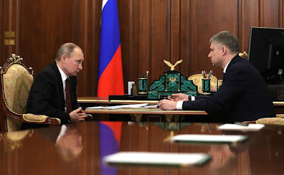 President Putin, Russian Railways CEO Oleg Belozerov.