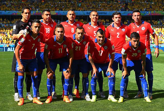 Formación de Chile ante Brasil, Copa del Mundo Brasil 2014, 28 de junio