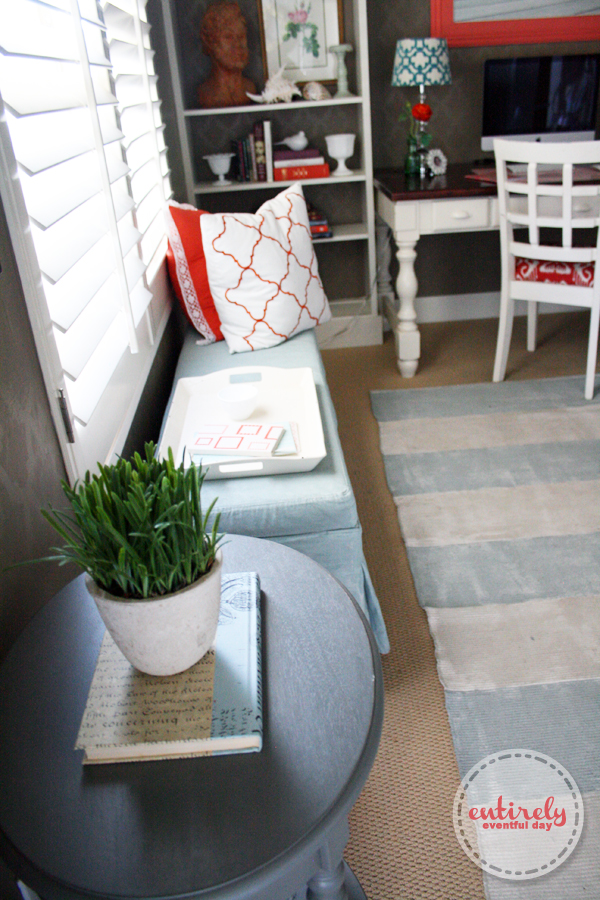 Diy Home Office Reveal Coral And Aqua Office Space