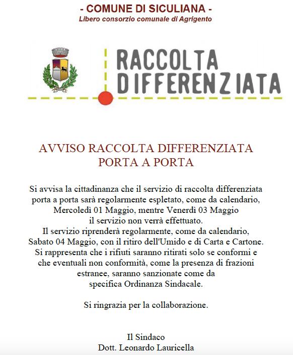 Leggi la notizia su http://www.siculiana.info/2019/04/raccolta-differenziata-stop-il.html