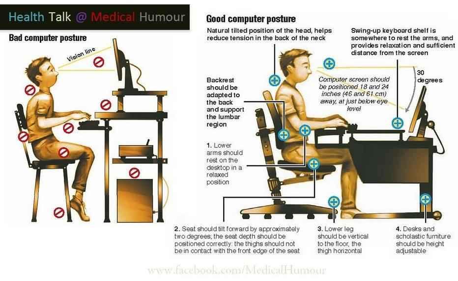 how to sit ergonomically at a desk