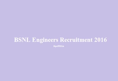 BSNL Graduate/ Diploma Engineers Recruitment 2016