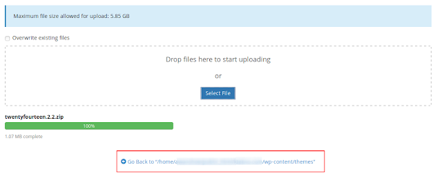 Cara Install atau Upload Tema WordPress Di Cpanel