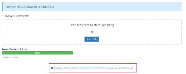 Cara Install atau Upload Tema WordPress Di Cpanel