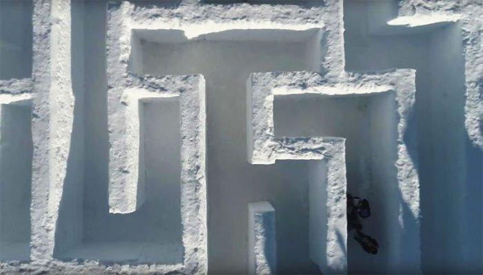 В Польше сделали самый большой снежный лабиринт в мире