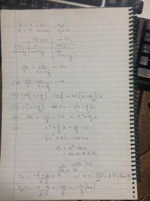 Giải bài toán bằng cách lập phương trình bậc hai một ẩn lớp 9