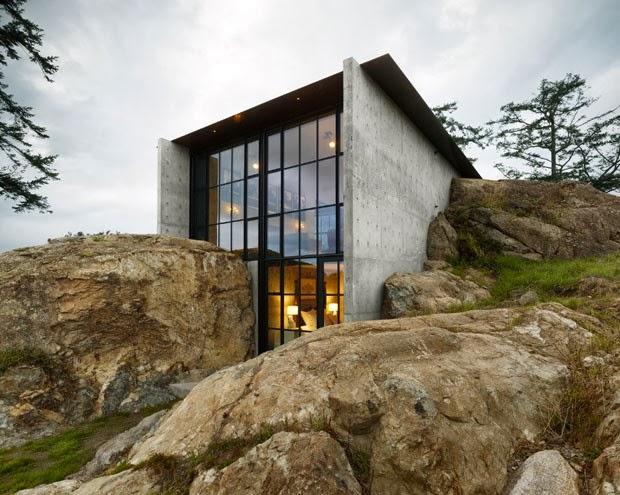 Casa en la roca olson kundig arquitectos arquitectura for Arquitectura y diseno de casas
