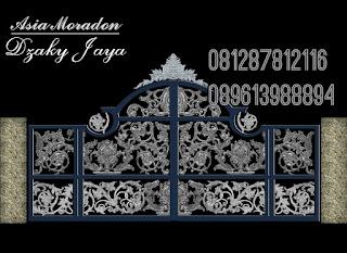 Gambar Pintu Gerbang Besi Tempa Mewah untu rumah klasik