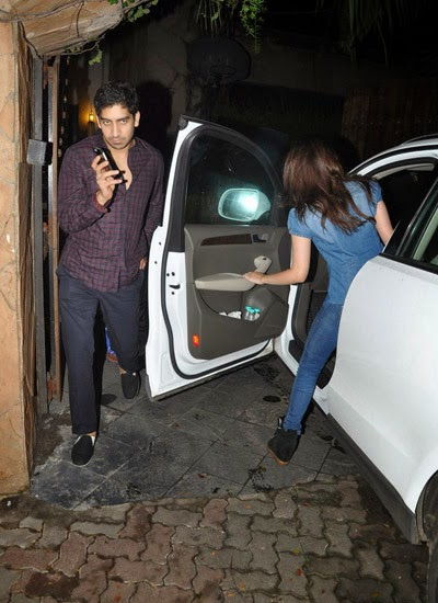 Ayan & Alia bhat snapped at Karan's house