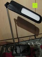 Licht oben: CRECO 7W LED Tischlampe 5 Helligkeitsstufen 3 Modi dimmbar 270° drehbar Schreibtischlampe Schwarz [Energieklasse A+]
