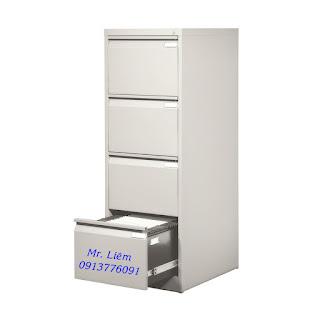 Tủ Hồ Sơ File Treo 4 Ngăn Kéo Đứng Godrej, Tủ sắt văn Phòng