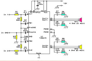 Subwoofer Car Power Amplifier circuit