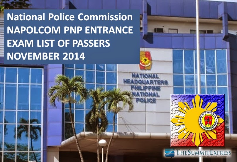 NAPOLCOM releases November 2014 PNP Entrance Exam Results