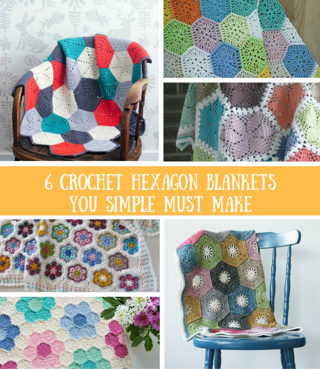 6 crochet hexagon blankets you simply have to make | Happy in Red